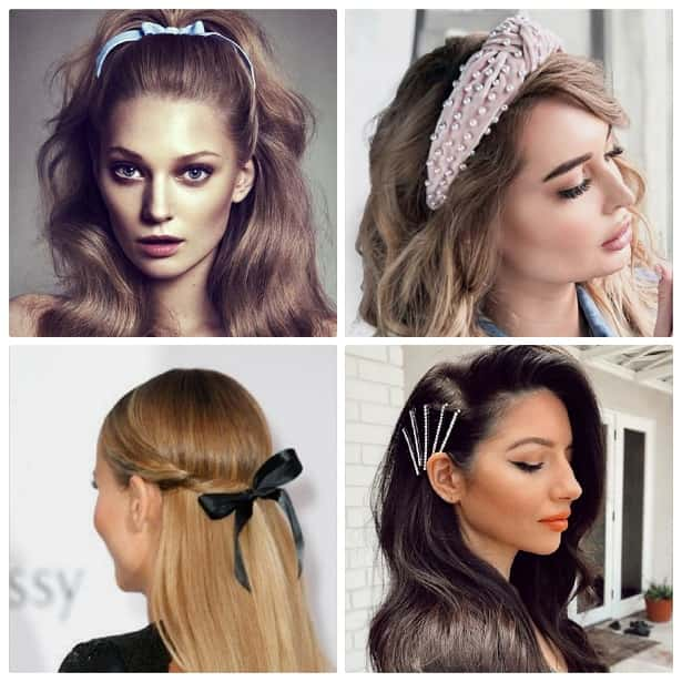 four different hair style